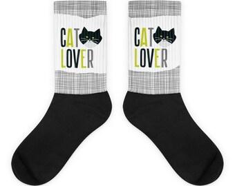 Cat Lover - Tuxie Kitty Socks