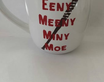 The Walking Dead Mug Decal, Negan Decal, Walking Dead Glass Decal, DiY, Eeny, Meeny Miny, Moe