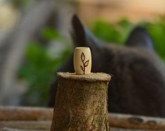 Beautiful simplicity - wooden dreadbead - seedling dread bead - dreadlock beads - dread bead set - dread jewelry - handmade with love