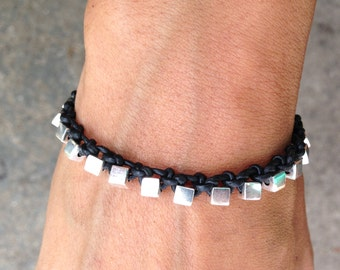 Bracelet Colo 21 Sterling Silver .925 Leather Handmade - Black (B121SS-LBK)
