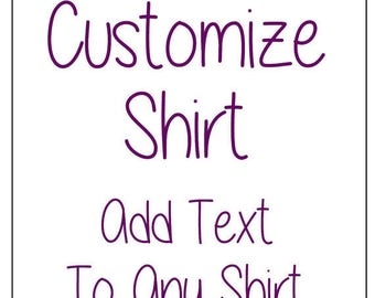 Add Text To Customize Shirt
