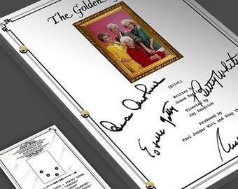The Golden Girls - TV Pilot Episode Script Screenplay Signed Autograph Preprint - Betty White, Bea Arthur, Rue McClanahan, Estelle Getty