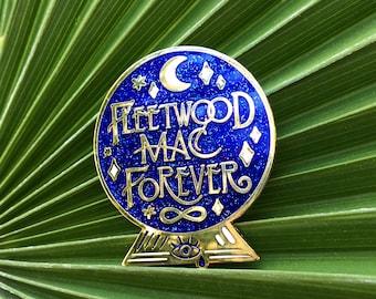 Fleetwood Mac Forever Crystal Ball Hard Enamel Cloisonne Glitter Pin