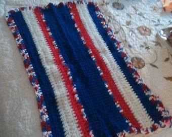 Hand crocheted bath mat