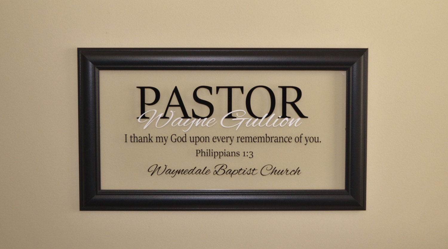 Pastor Gift Pastor Appreciation Wall Decor Minister Gift