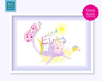 EVA - gift table-name or child's room decor