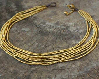 Heavy Brass Chain Necklace / Choker Necklace
