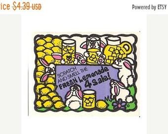 SALE Vintage Mello Smello Scratch and Sniff Lemonade Sticker 80's Lemon