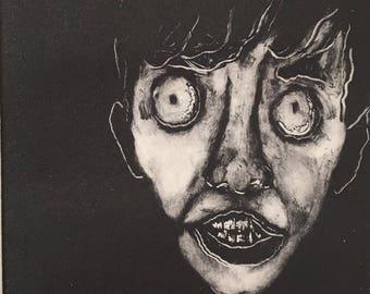 Creep, original monotype print