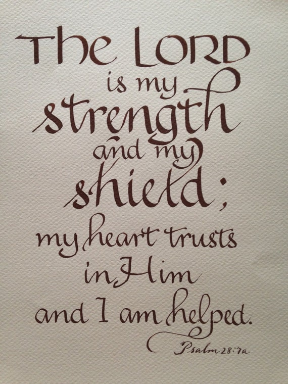 Custom Calligraphy Bible Verse Art Custom Verse Psalm 27
