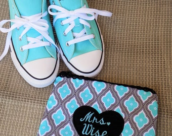 Custom Wedding Shoes (EMBROIDERY WORK ONLY), Personalized Wedding Converse (shoes not included)