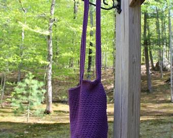 Mulberry Tote Bag, Small Crochet Bag, Farmers Market Bag, Eco- Friendly Bag