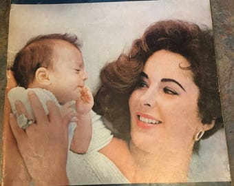 LIFE Magazine November 4, 1957 issue, Eliabeth Taylor and daughter, Liza Todd