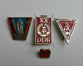 Pins DDR, East Germany, pins, Buchenwald concentration camp, East Berlin, Treptower Park, soviet propaganda
