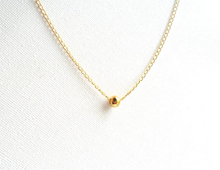 Simple Gold Necklace 14K gold chain everyday simple