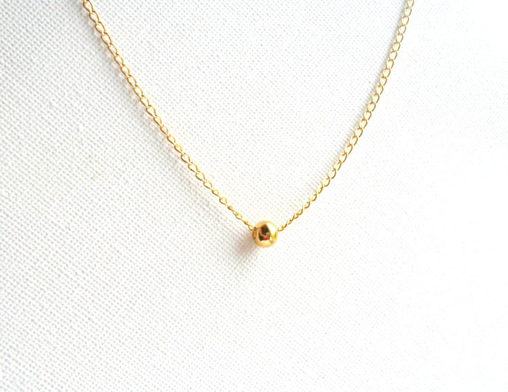 Simple gold necklace 14k gold chain everyday simple zoom aloadofball Images