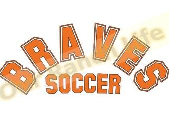 Arched Single Color Braves Soccer