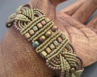 Matte Metallic Khaki Iris Bracelet