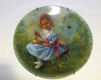 Little Miss Muffet Mother Goose Vintage Reco Collectible Plate