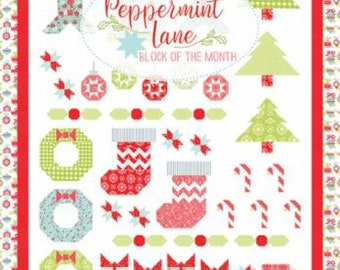 Peppermint Lane  Block of the Month Pattern by It's Sew Emma