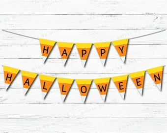 Printable Halloween Candy Corn Banner
