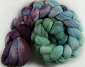 RESERVED Plum Opal 2 merino wool top for spinning and felting - 4.1 ounces