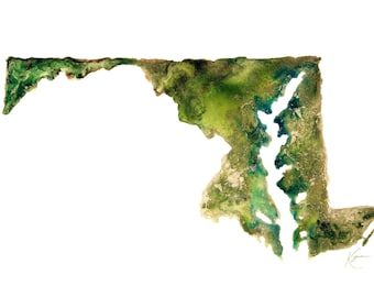 Maryland Topography Print