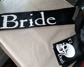 Bride til death black sash