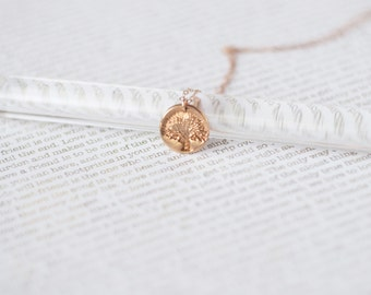 Tree of Life Necklace, Rose Gold Tree Necklace, Rose Gold Necklace