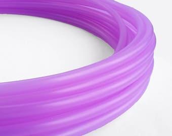 Translucent UV Purple Slime 5/8 Polypro Hula Hoop// Customizable// Light Weight//Trick Hoop//Dance Hoop