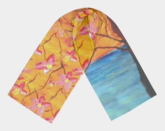 "Long Scarf  ""Hello Spring"" (Material and Size Options)"