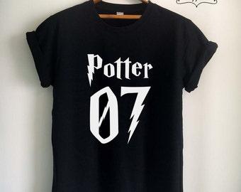 Potter Shirt Potter T Shirt Potter Merch Print on Front or Back Side for Women Girls Men Top Tee Jersey White/Black/Grey/Red