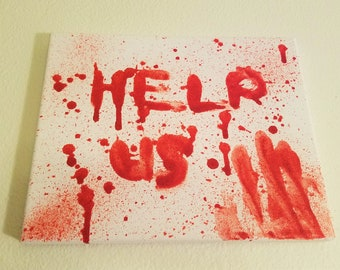 Glittered Blood Spatter Painting