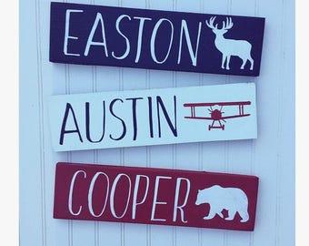 Rustic nursery sign name, rustic nursery decor, arrow nursery decor, nursery name sign
