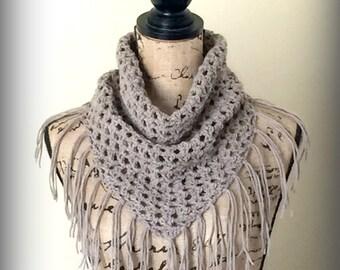 Crochet Pattern Oakley Fringe Scarf PDF 229