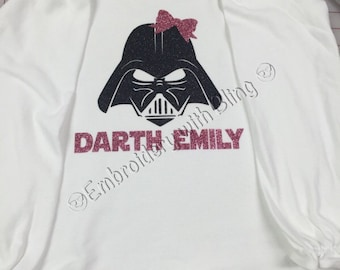 Girls Darth Vader Shirt (Long Sleeve)