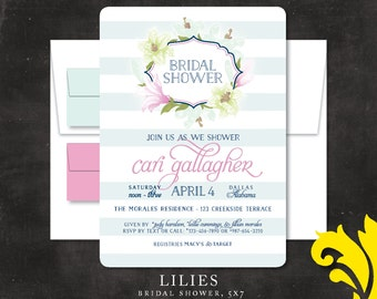 LILIES . bridal shower invitation