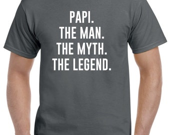 Funny Papi Gift-Papi The Man the Myth-Papi Tshirt Fathers Day Gift