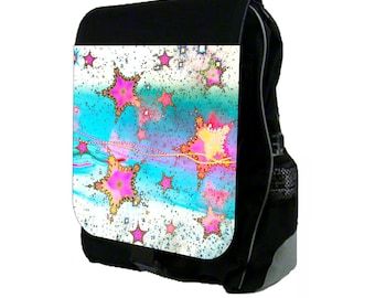 Starburst - Large Black School Backpack