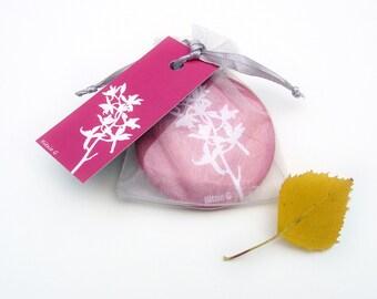 Pocket Mirror - Hot Pink Orchid Botanical Papercut Design