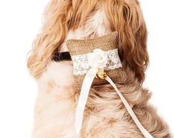 Dog Ring Bearer Pillow Cushion, Wedding