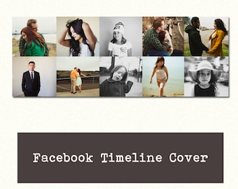 Facebook Timeline Cover - Multiphoto Facebook Timeline Cover Template for Photoshop