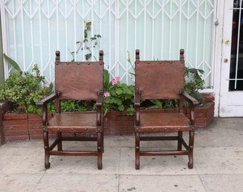 Peruvian Highback Leather Chairs