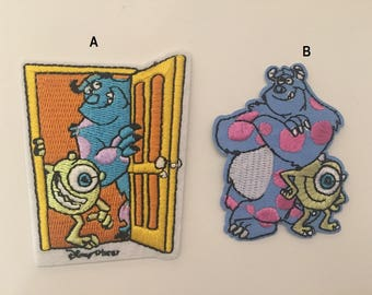 Monsters patch, Sully Embroidered patch, monsters iron on patch, Disney patch