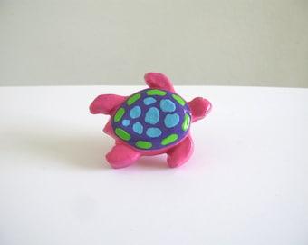 Pink Sea Turtle - furniture knob - dresser drawer knob