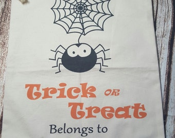 Halloween trick or treat bags - personalized