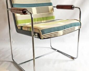 60s Chrome Accent Chair