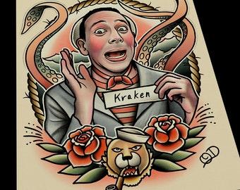 PeeWee Herman Tattoo Art Print
