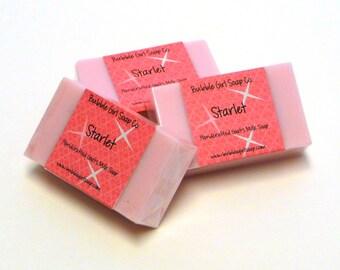 Starlet Mini GUEST BAR Goat's Milk Soap Handmade SLS Detergent Free (Forever Red Type)