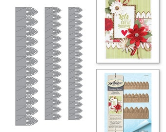 Spellbinders Shapeabilities Lilly Pearl Flat Fold Flower/Border Etched Dies Chantilly Paper Lace Collection by Becca Feeken S4-819